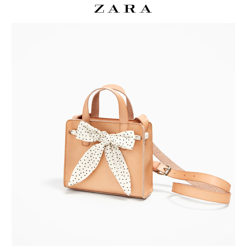 Red child package bow ZARA oblique backpack 11090206102