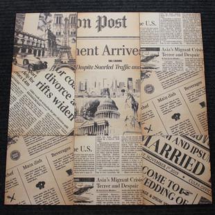 复古做旧汽车报纸瓷砖咖啡厅餐厅英文字母地砖loft仿古砖墙砖300