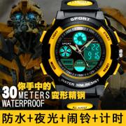 New smart meter effect charging, student alarm clock, step motion, electronic watch, children, boys and girls Bracelet Watch