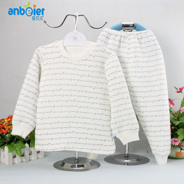 Anbel winter cotton padded infant underwear suits baby boys and girls winter pajamas modal thickening