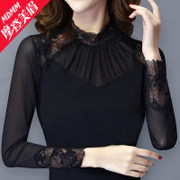 2017 new winter sweater girl Modern Lace plus velvet small shirt dress size shirt sleeved jacket.