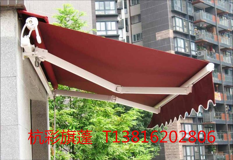 Luxury manual electric sunshade awning canopy retractable awning outdoor parking shed telescopic awning