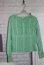 38 in Shengsi green long sleeved shirt without collar