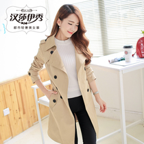 2016 spring and autumn new women's Korean Slim was thin in the British section of long-sleeved coat windbreaker women's coat tide