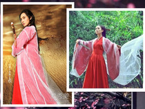 COS annual Purple Fairy unbeaten Red Dress Red Oriental female costume Han clothing fairy costumes