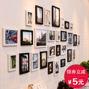 Super large living room photo wall photo frame wall European photo frame wall hanging wall