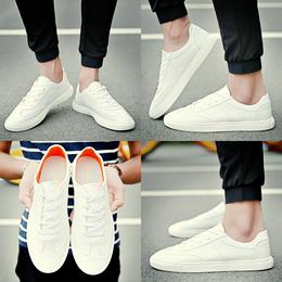 夏季透气男鞋子韩版潮流百搭平底板鞋学生小白鞋男休闲鞋帆布白鞋