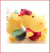 Large cute clothes wear big river horse plush toys hat lovers couple dolls doll birthday gift