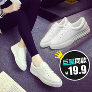 2016 new spring tide white shoes Korean leisure sports shoes women flat shoes running white shoes