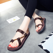 2017 summer new lovers all-match flip flops female flat sandals Korean fashion sandals slippers