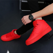 The autumn winter new Korean men high shoes red shoes men fashion sports casual shoes GZ shoes shoes