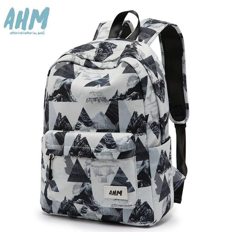 Han edition college students wind bag backpack AHM female leisure sports rucksack joker female bag contracted