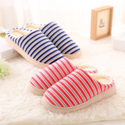 Cotton slippers female indoor winter couples with half a pack of home with a winter home to keep warm wool slippers