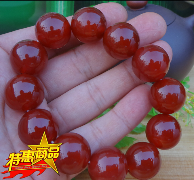 Near the end of one yuan auction Brazil Onyx men red agate bracelet pearl children Mens domineering