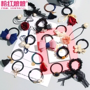 Tousheng rubber band ligation hair hair band hoop Butterfly Hair rope headdress hairpin hair accessories hairpin headdress flower ring
