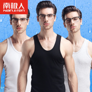 Nanjiren cotton sweater vest male man sports summer breathable thin old T-shirt hurdle