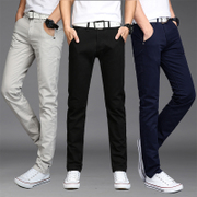 The 2017 men's casual pants pants men's spring straight slim feet long trend of Korean students all-match pants