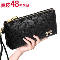 2016 new ladies hand bag leather clutch pressure roses carry mini mobile phone fashion Lady package