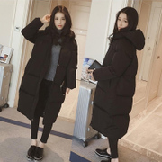 Korean female students padded winter coat jacket dress coat knee code Korean girls long bread lovers