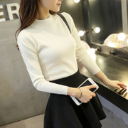 The new sweater female short winter half Korean winter sweater slim turtleneck thick long sleeved pullover shirt