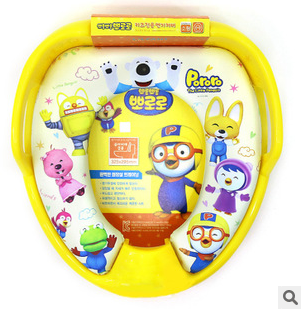 South Korea imported Pororo boo Lele children's closet toilet seat toilet seat with armrest NEW