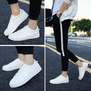 In the spring of 2017 new men's shoes leisure shoes. The trend of white male students a white sports shoes