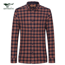 Septwolves brand is middle-aged man long sleeve shirt shirt men's shirt 30-40-50 young father.