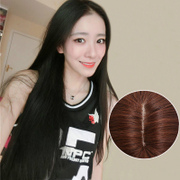 Black hair wig Nuzhen long straight hair in bangs headgear natural long straight hair fluffy hair in Korea