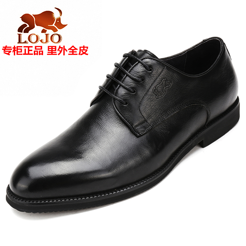 The 2017 men's dress business counter rhino premium leather casual shoes men's leather belt head