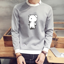 Long sleeved T-shirt man clothes T-shirt autumn clothes in winter and warm cashmere sweater Korean students shirt autumn