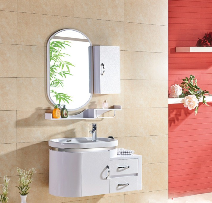 The simple white PVC board bathroom cabinet basin cabinet about simple bathroom cabinet bathroom sink cabinet combination