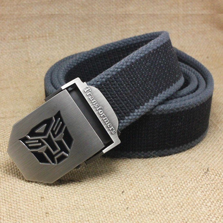 Transformers Superman Korean tide automatic buckle young men and women leisure woven canvas belt C1 belt