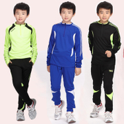 The children long sleeved suit boys football soccer training suits spring childhood football football pants
