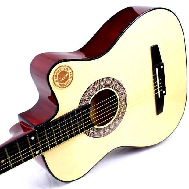 38 inch guitar, beginner, folk, guitar, wooden guitar, novice guitar, student, male and female student, musical instrument