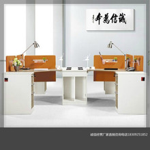 Shaanxi Yanliang office furniture factory direct screen card wood paint Bantai training desk clerk