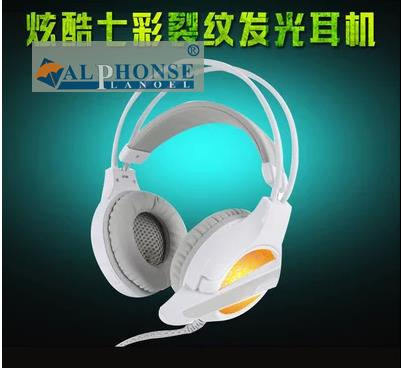 E-sports Internet cafes desktop computer game headphones head-mounted glow cable vibration headset cool colorful light