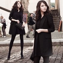New stylish long plus size womens temperament in a small suit Blazer Korean self slim spring coats
