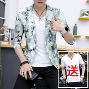 The new summer suit sleeve small male thin hollow summer suit sunscreen clothing tide slim metrosexual man summer coat