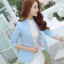 New fashion trends spring summer color about Princess Diana 2017 long sleeve ladies small suit suits the Korean version of self womens blouses