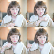 Female eyebrow hair wig Liu Qi Li Shengjing with short hair short hair bangs wig on the whole Korean Air