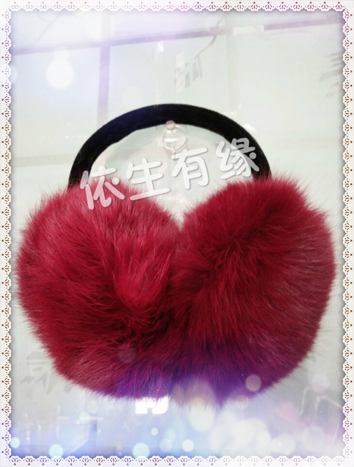 Package mail earmuffs earmuffs warm winter really cute rabbit hair ear ear package han edition men and women fur wu ear muffs large ears