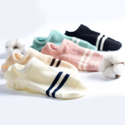 Socks, women's socks, socks, cotton, cotton, cotton, summer and spring section of silicone anti slip and low light invisible thin South Korea