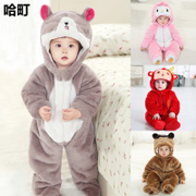 Men and women's autumn and winter 0-3-6 months 1-2 years old baby clothes spring winter thick cotton baby clothes