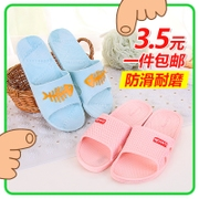 Non slip bathroom slippers, home plastic bath slippers, indoor men and women, thick bottom home shoes, summer