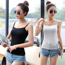 Vest women black Joker modal Korean version of self in spring and summer wear a tight top and bottom small halter top