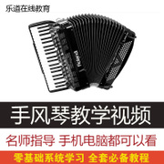The accordion teaching video tutorial video entry zero basis practice self-study children solos music online