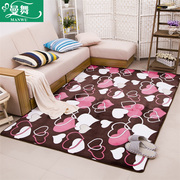 Coral velvet carpet thickened modern minimalist bedroom living room coffee table covered with bedside windows and rectangular carpet