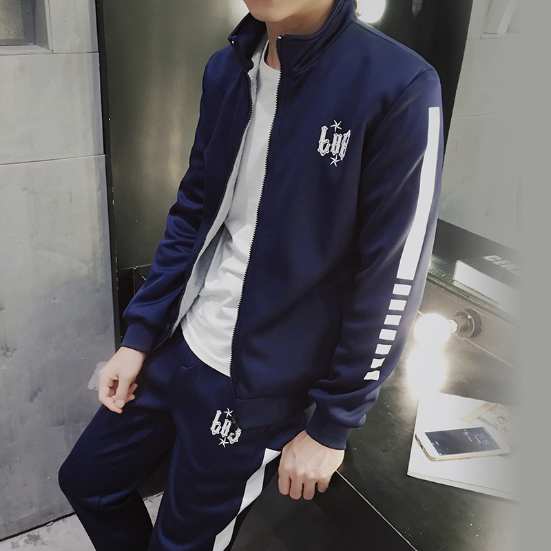 Men's men's winter sweater cardigan sweater Mens Suit popular youth male boy clothes tide.