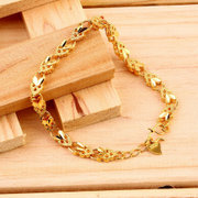 Vacuum Plating 24 k Gold Angel Heart Bracelet Emulational Jew