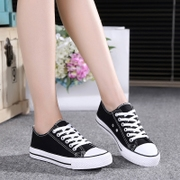 2016 new summer black canvas shoes with flat bottomed female casual shoes shoes shoes white students
